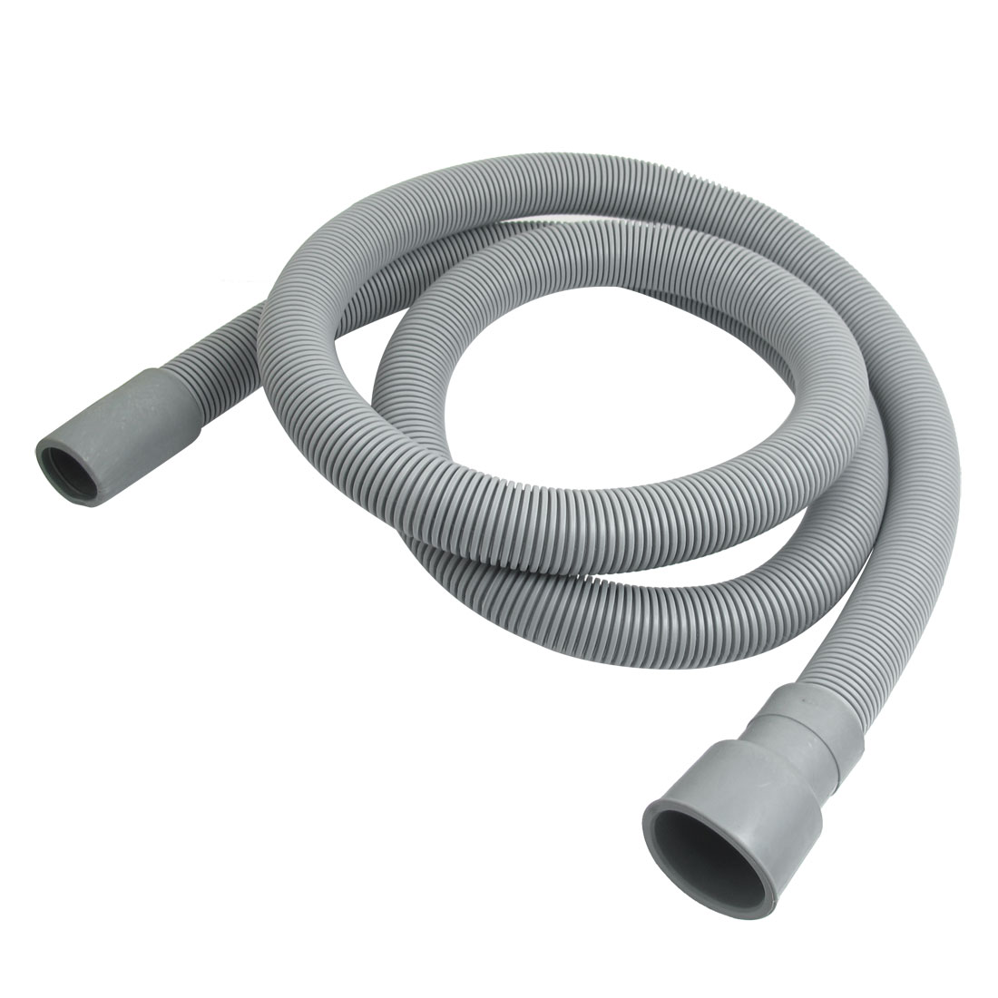 1.58M Long Washing Machine Gray Plastic Water Waste Drain Hose Pipe