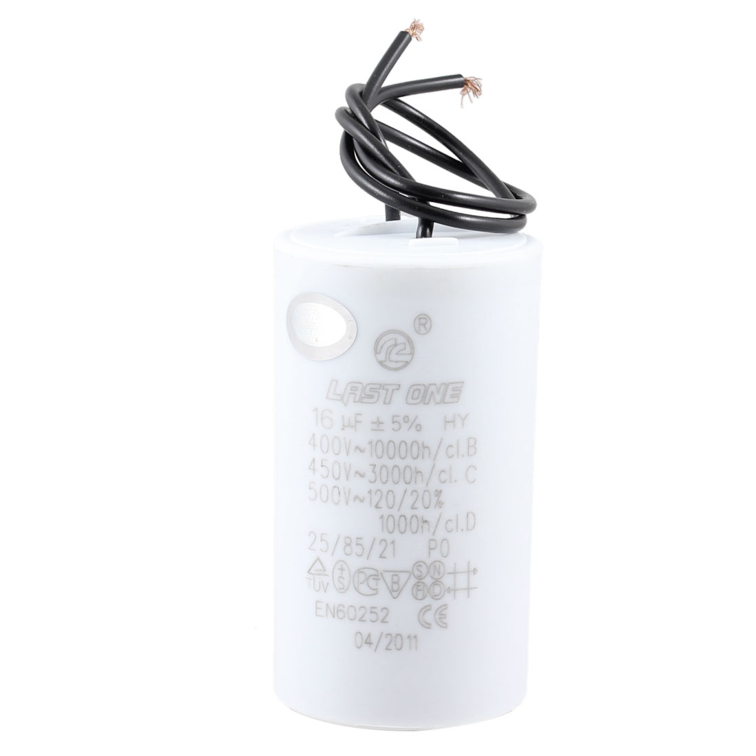 Washing Machine Washer 16uF AC 450V Motor Run Capacitor White