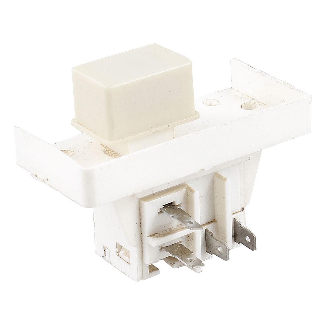 220V/240V NO Self Locking Rectangle Power Switch for Washing Machine