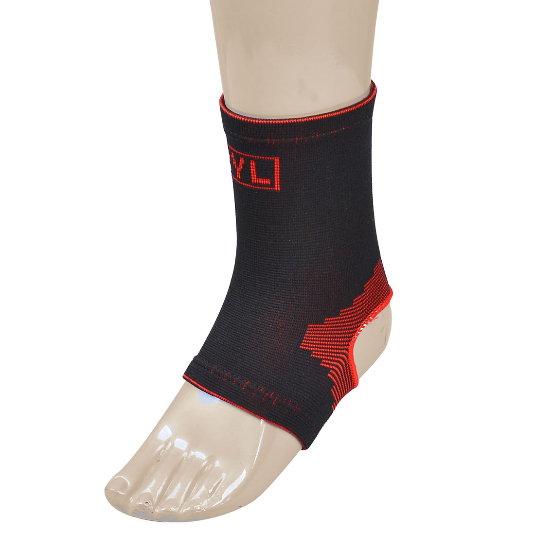 Black Red Pinstripe Protective Stretchy Ankle Support Brace