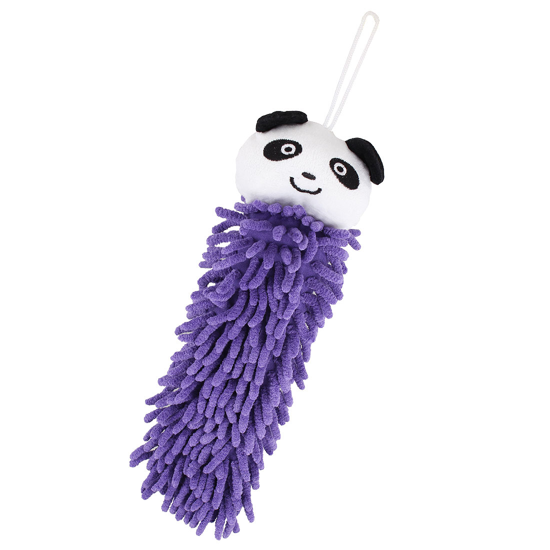 Bathroom Kitchen Car Office Cartoon Panda Design Hand Washcloth Towel Purple