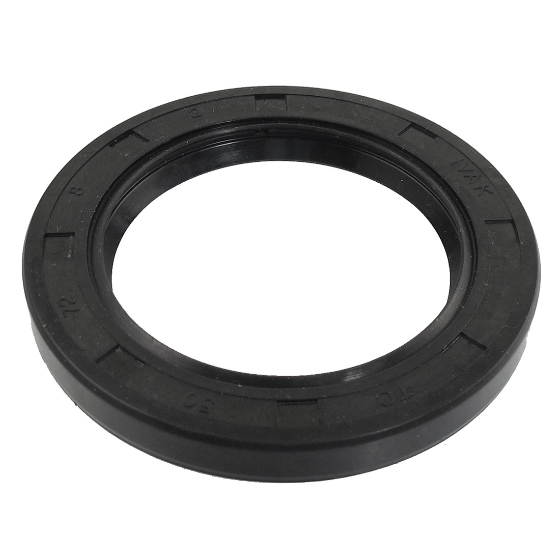 Black Nitrile Rubber Dual Lips Oil Shaft Seal TC 50mm x 72mm x 8mm