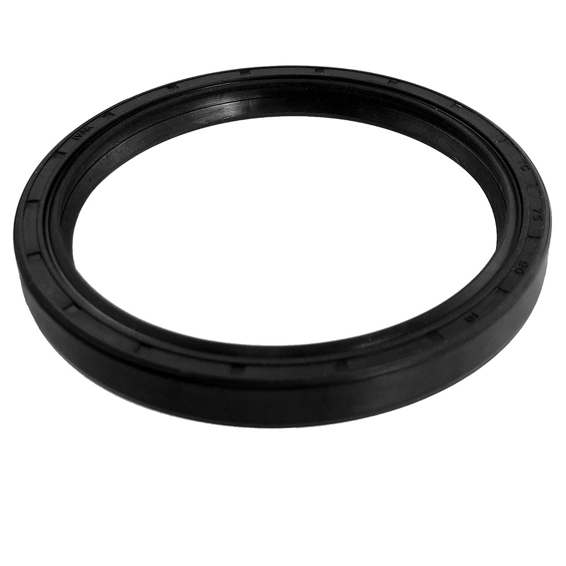 Black Nitrile Rubber Dual Lips Oil Shaft Seal TC 75mm x 90mm x 10mm