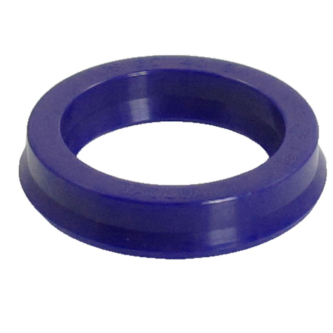 Blue PU 30mm x 40mm x 8mm Double Lip Sealing Cushion Dust Seal Ring