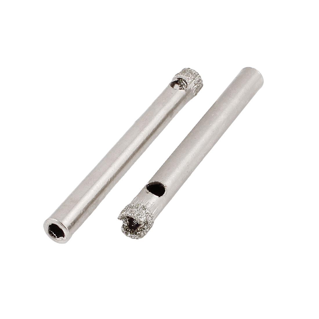 "Diamond Tool Drill Bit Ceramic Tile Glass Hole Saw 5mm 1/5"" 2 Pcs"