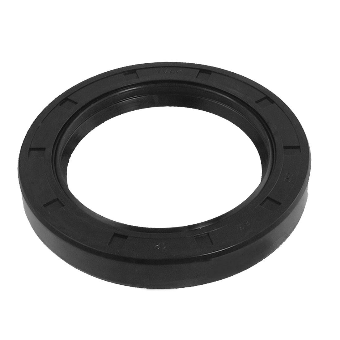 Black Nitrile Rubber Dual Lips Oil Shaft Seal TC 60mm x 85mm x 12mm