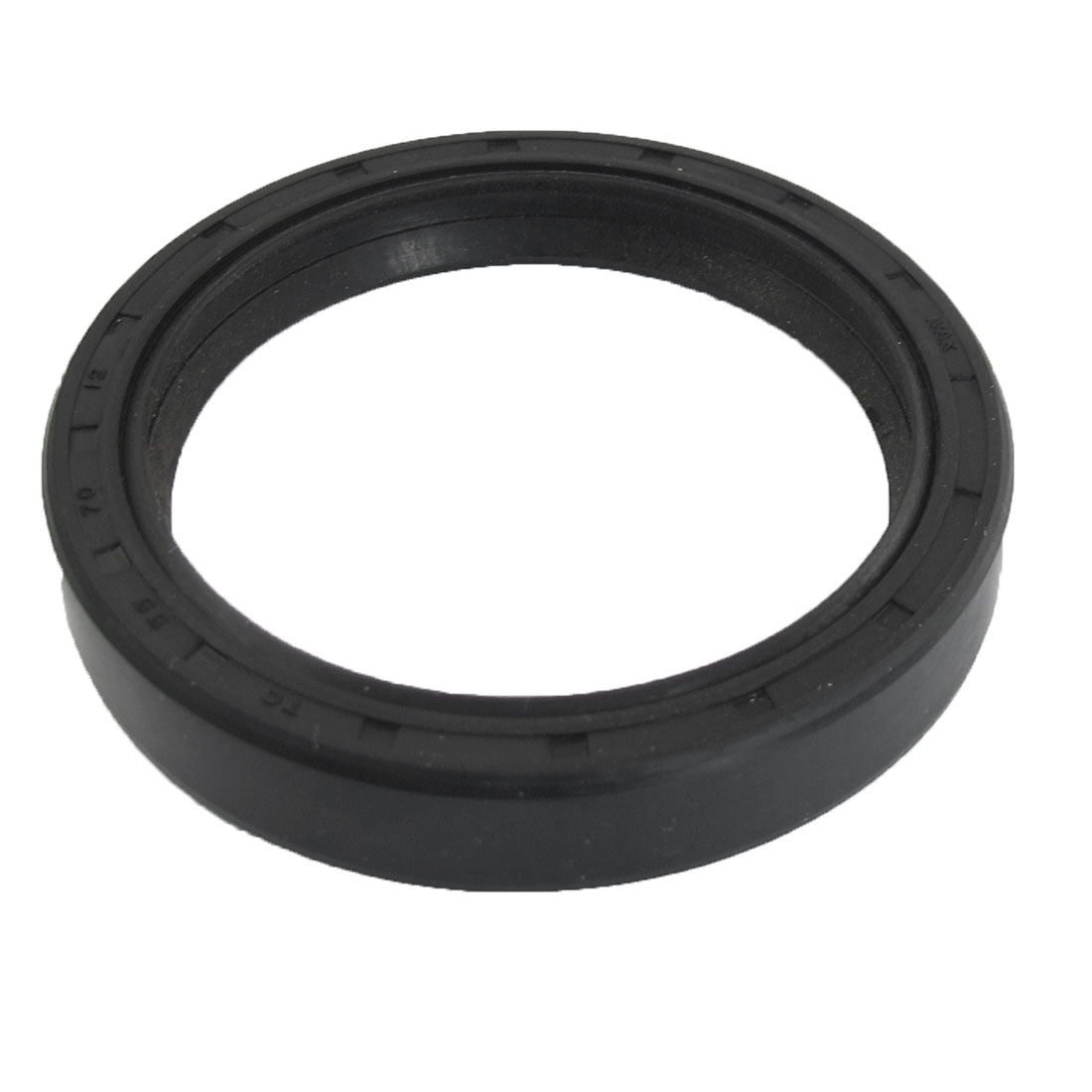 Black Nitrile Rubber Dual Lips Oil Shaft Seal TC 55mm x 70mm x 12mm