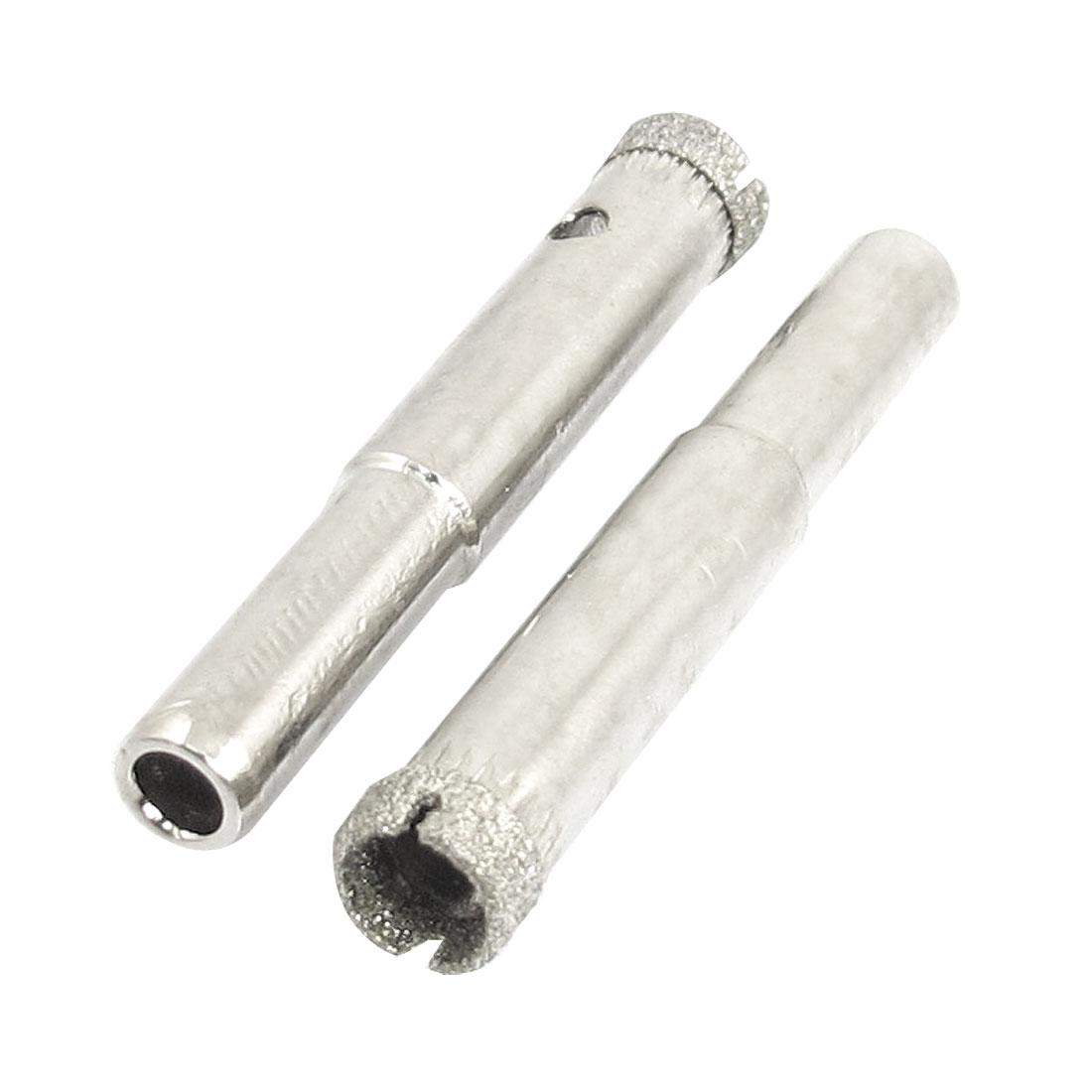 "2 Pcs Diamond Drill Bits 8mm 5/16"" Bottle Glass Tile Granite Hole Saw"