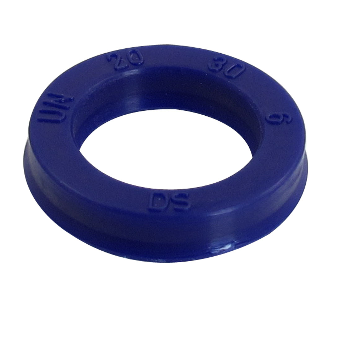 Blue PU 20mm x 30mm x 6mm Double Lip Sealing Cushion Dust Seal Ring