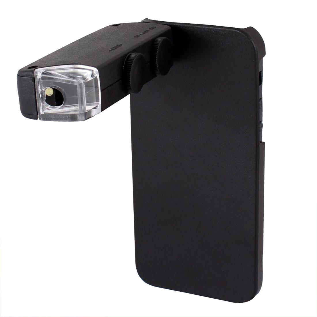 White LED Light 60X-100X Zoom Mini Microscope w Back Case