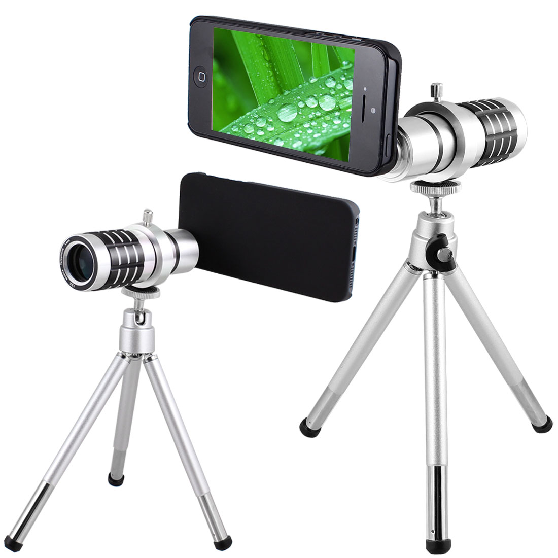 Zoom 12X Camera Telephoto Lens w Mini Tripod