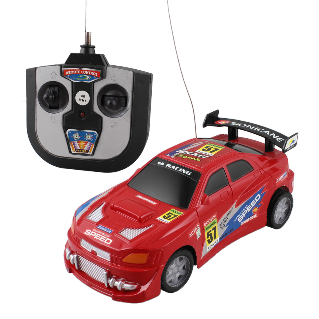 Remote Control Manipulated Red Radio Car Toy Gift for Kids