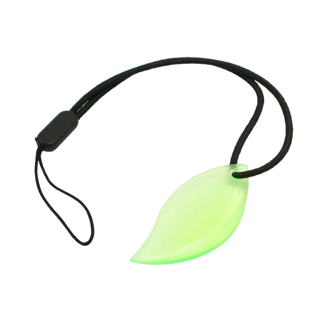 Green Leaf Shaped Pendant Elastic String Cell Phone MP3 MP4 PDA Strap
