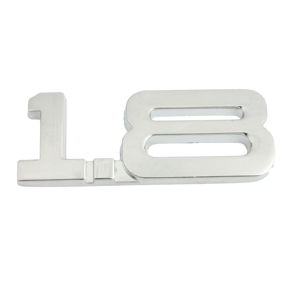 Car Truck Alloy 1.8 Decal Emblem 3D Badge Sticker Decor Silver Tone
