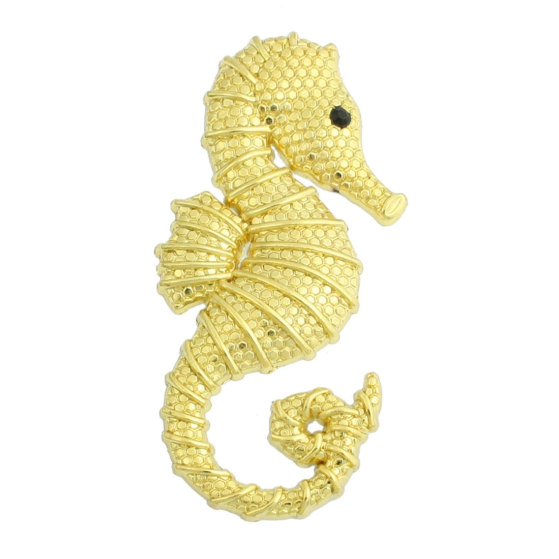 Sea Horse Design Decal Sticker Gold Tone for Auto Car