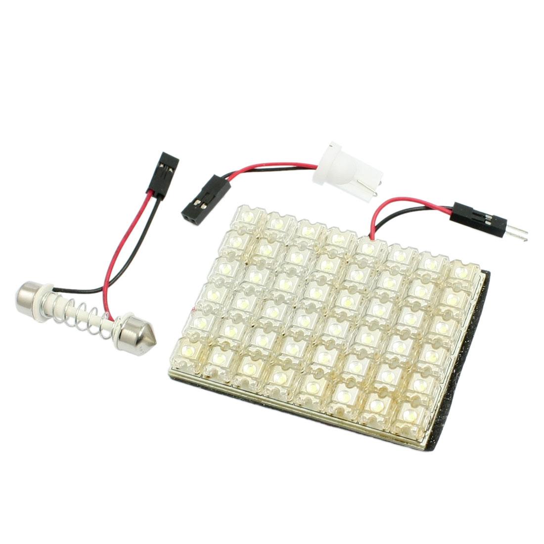 Car Auto 48 LED Light Panel Dome Festoon Interior Map Bulb White + T10 Adapter