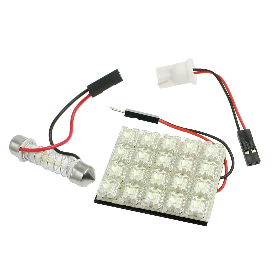 Vehicle Flux Piranha Panel 20 LED Interior White Festoon Dome Light Lamp