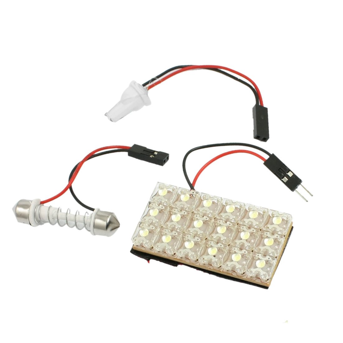 Car Auto 18 LED Light Panel Dome Festoon Interior Map Bulb White + T10 Adapter