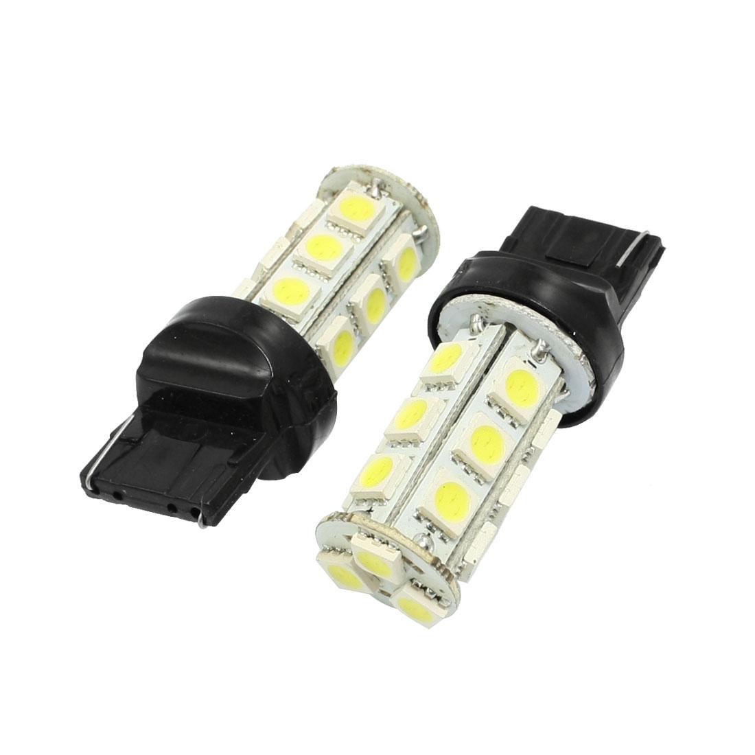 2 Pcs T20 18 5050 SMD LED Car Tail Backup Turn Signal Lamp Bulb Lamp White