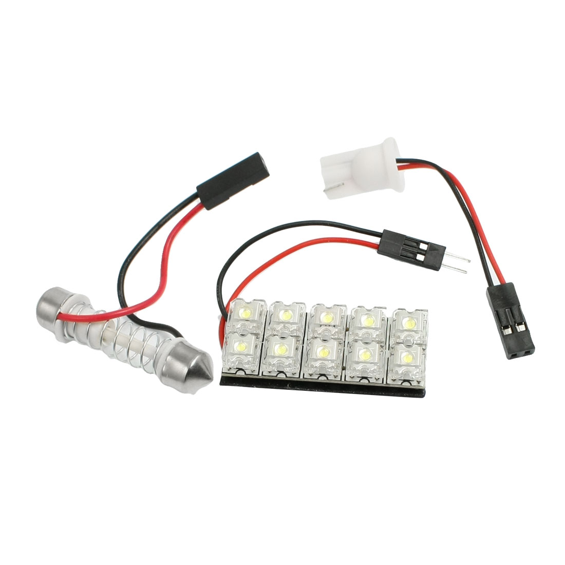 Vehicle Auto Flux Piranha Panel T10 10 LED Interior White Festoon Dome Lights