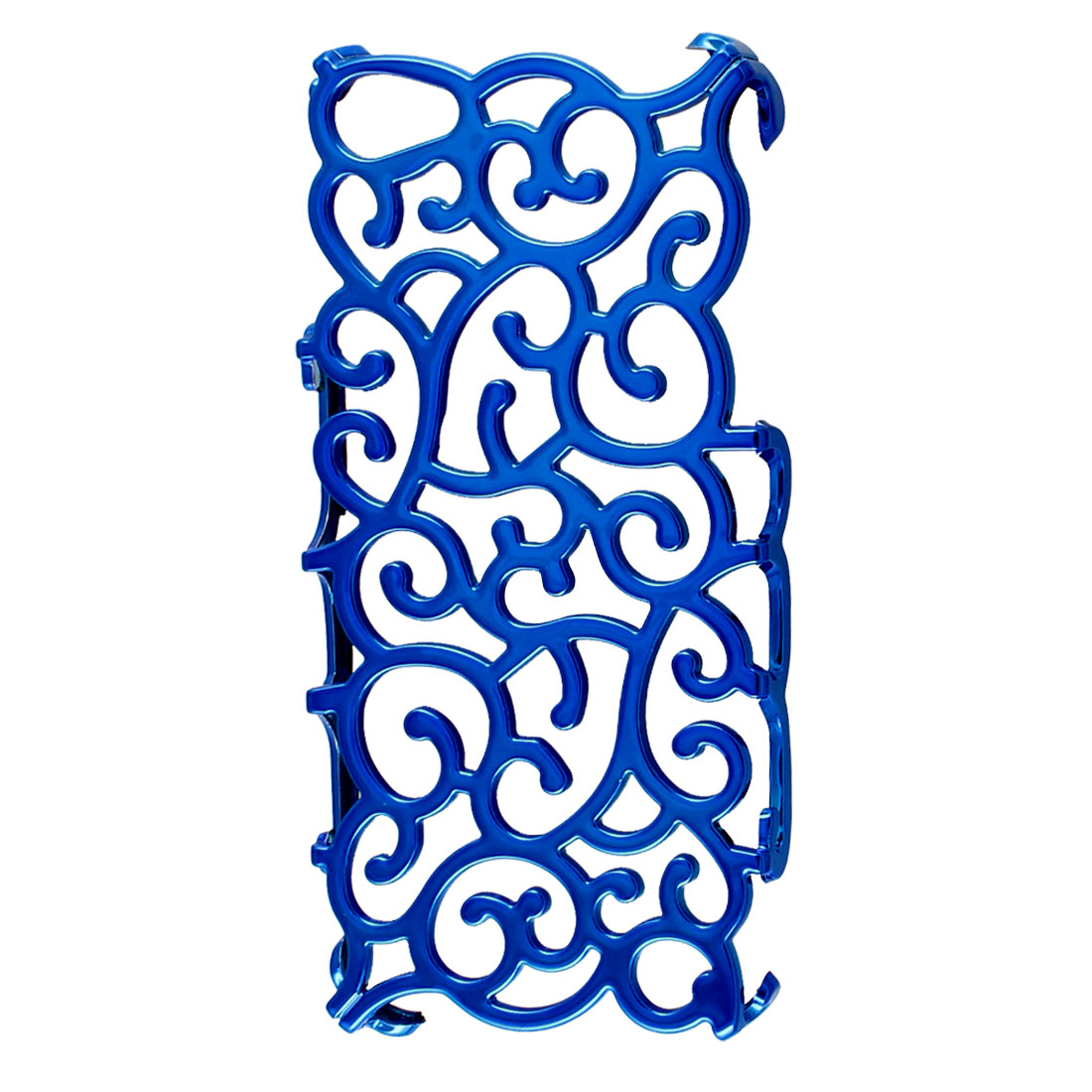 Royal Blue Hollow Out Palace Flower Hard Back Cover Case for iPhone 5 5G