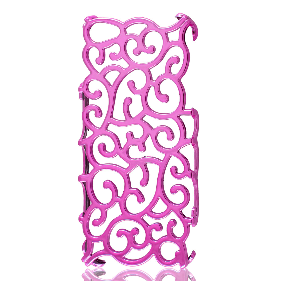 Pink Hollow Out Palace Flower Hard Back Case Cover for iPhone 5 5G