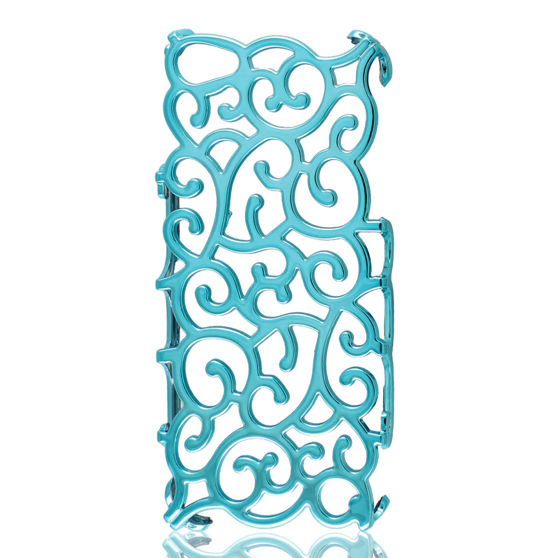 Sky Blue Hollow Out Palace Flower Hard Back Cover Case for iPhone 5 5G