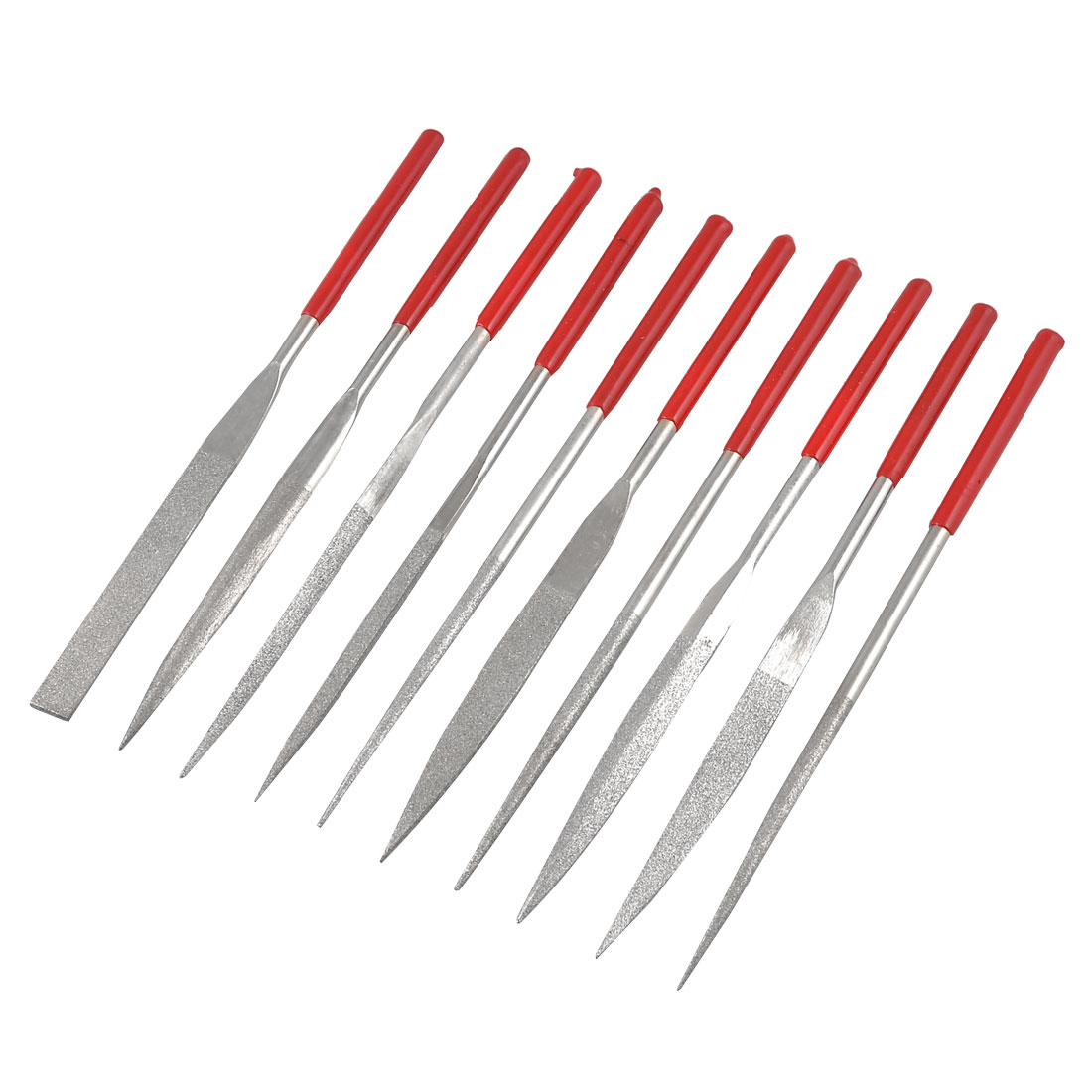 10 Pcs 180mm X 5mm Equalling Square Round Triangle Crossing Diamond Needle Files