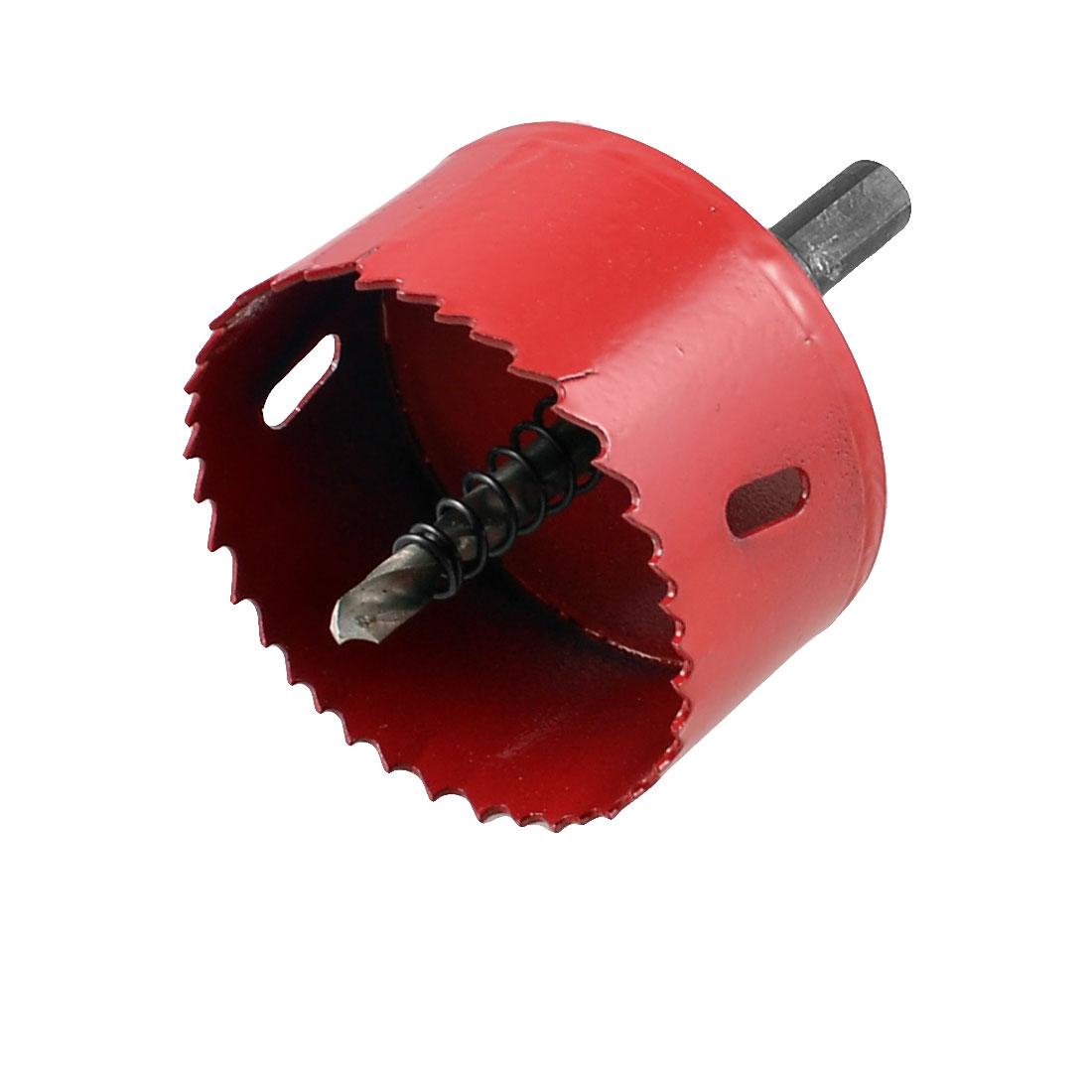 6mm Twist Drilling Bit 65mm Cutting Diameter Bimetal Hole Saw Cutter Red Black