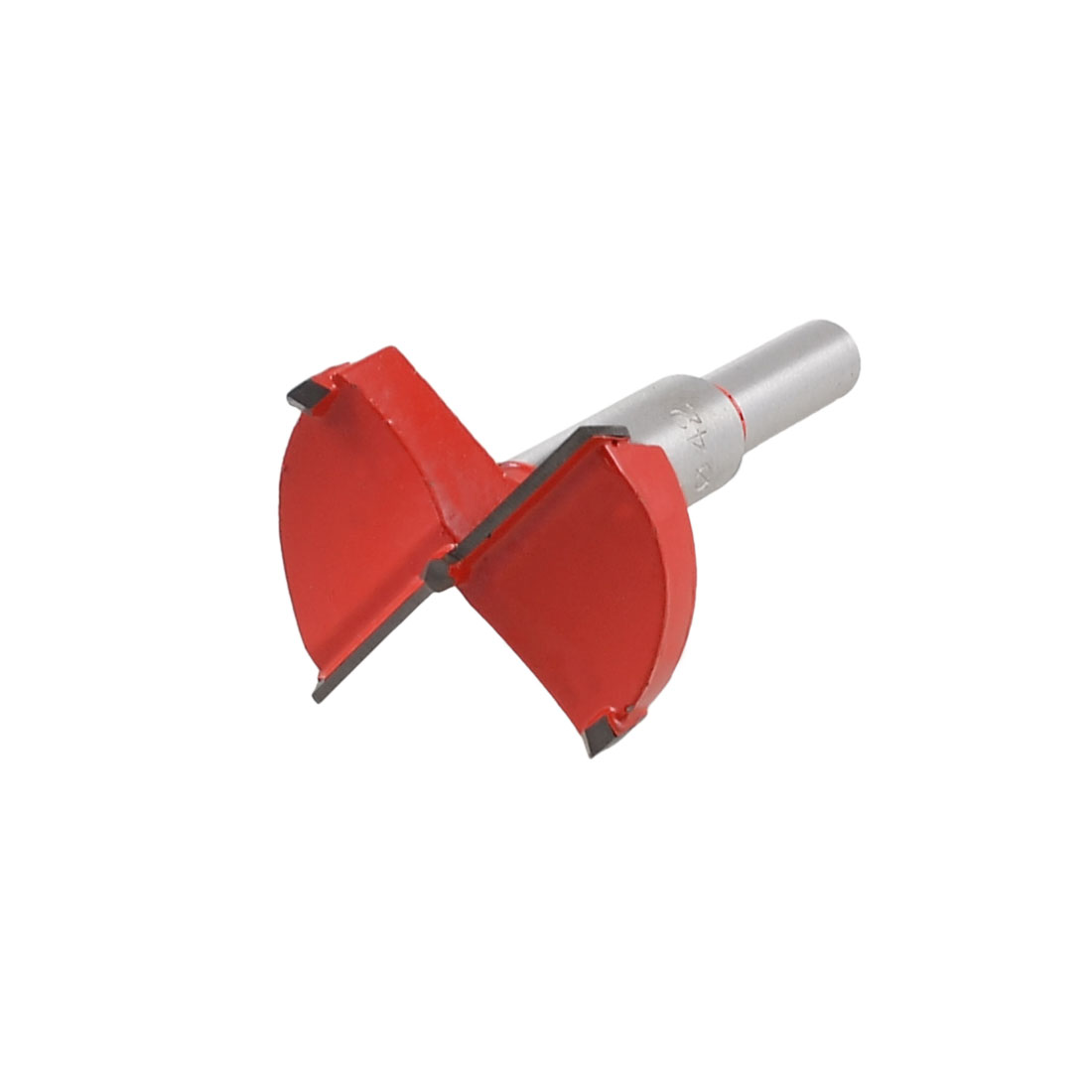 Carbide Tip 42mm Dia Boring Bit Woodworking Drill Tool Red Silver Tone