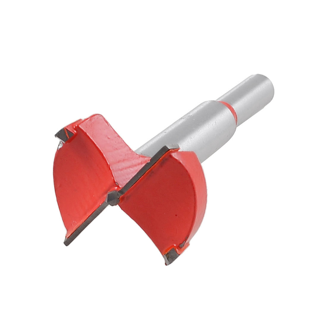 Carbide Tip 35mm Dia Boring Bit Woodworking Drill Tool Red Silver Tone