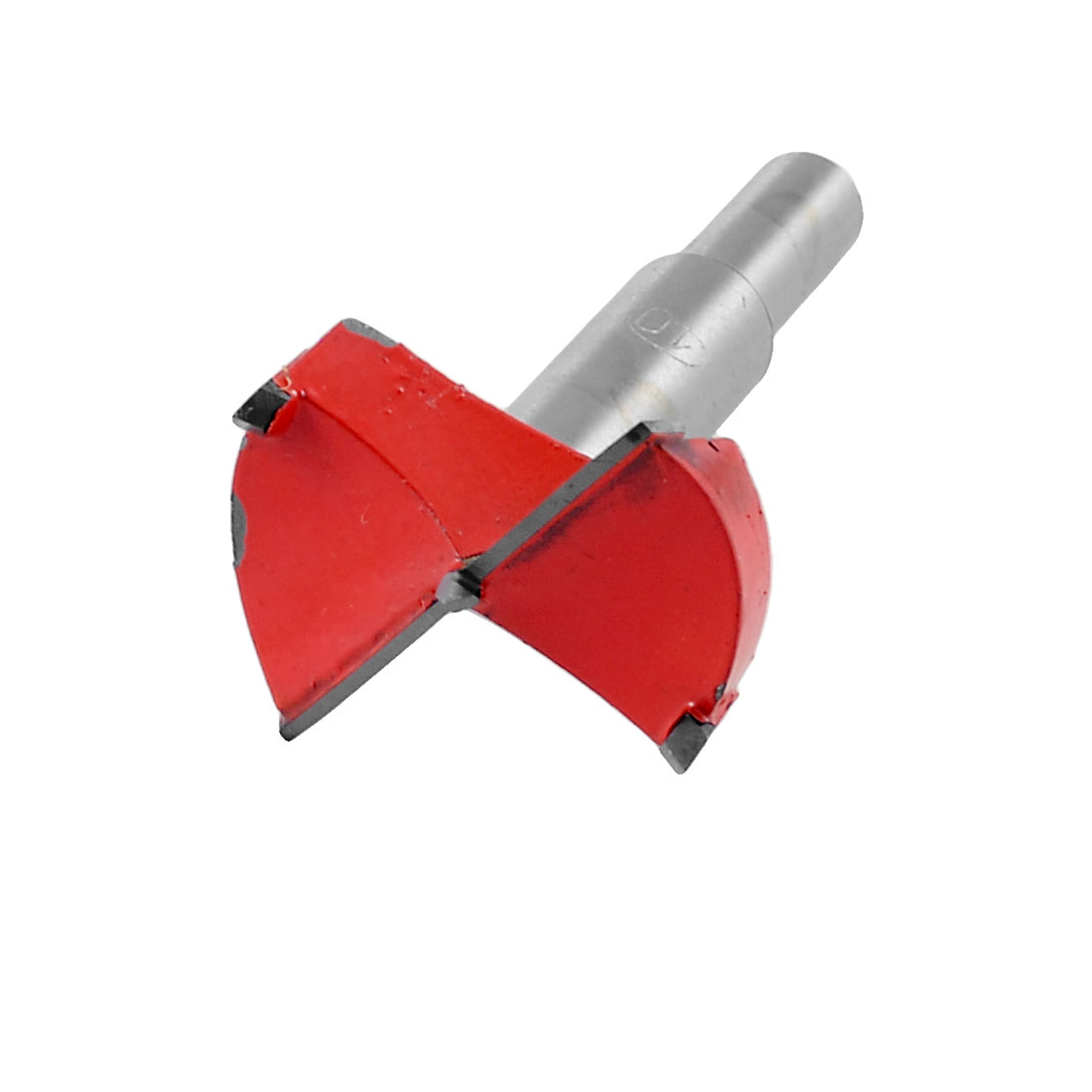 Carbide Tip 40mm Dia Boring Bit Woodworking Drill Tool Red Silver Tone