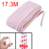 Pants Trousers 5mm Width White Fuchsia Square Pattern Elastic Stretchy Band 20 Meters
