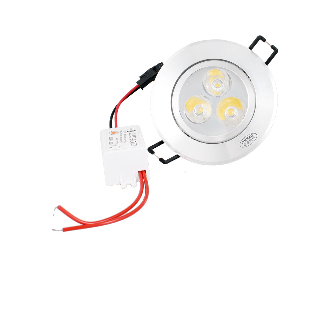 AC 100-240V 3W Cabinet 3 LED Recessed Ceiling Light Fixture Down Lamp Warm White