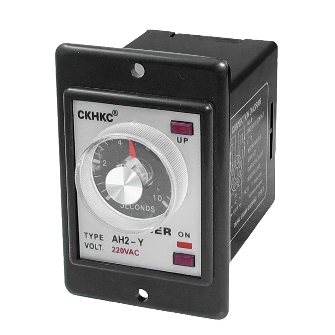 Rotary Knob DPDT 8P 10 Seconds 10S Timer Time Relay AC 220V w LED Indicator