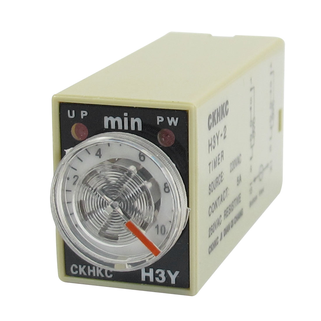 H3Y-2 AC 220V DPDT 0-10 Minutes 10M 8 Pins Power on Time Delay Relay