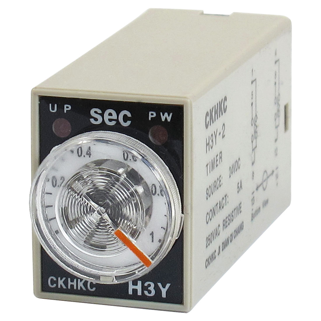 H3Y-2 DC 24V DPDT 0-1 Seconds 1S 8 Pins Power on Time Delay Relay