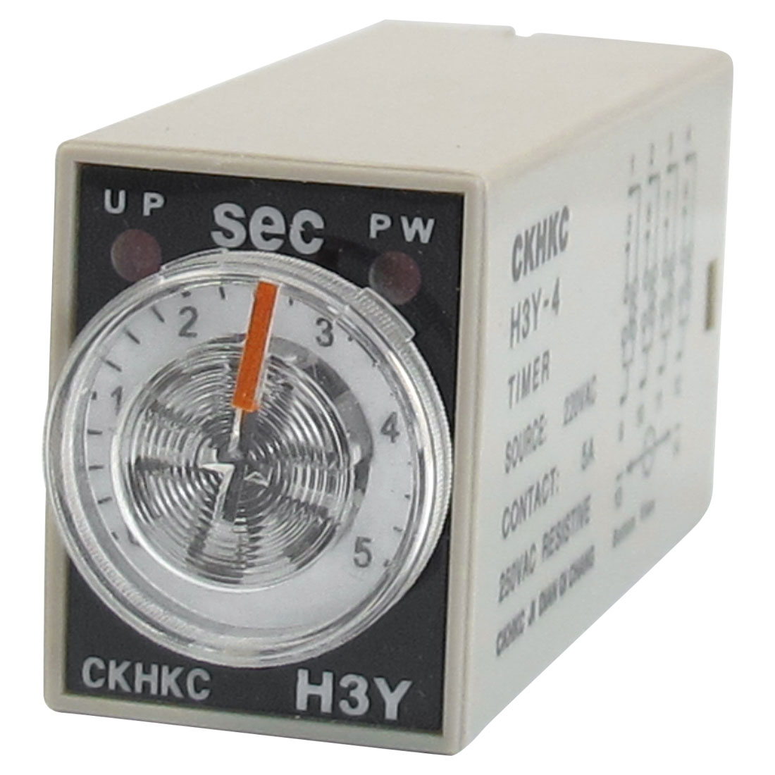 H3Y-4 AC 220V 4PDT 0-5 Seconds 5S 14 Pins Power on Time Delay Relay