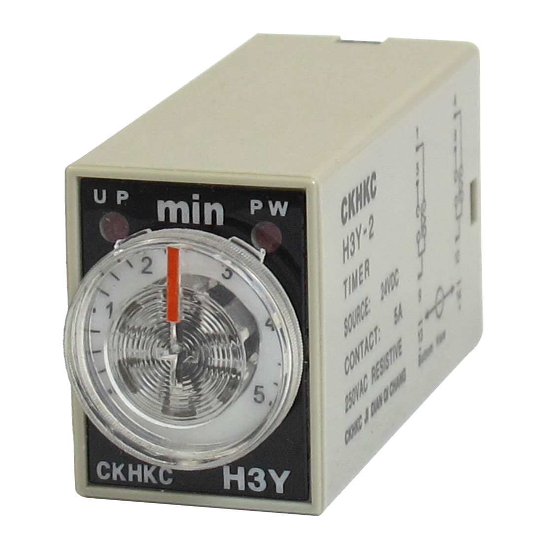 H3Y-2 8-Pin 0-5 Minutes Delay Timing Time Relay 24VDC w LED Indicator
