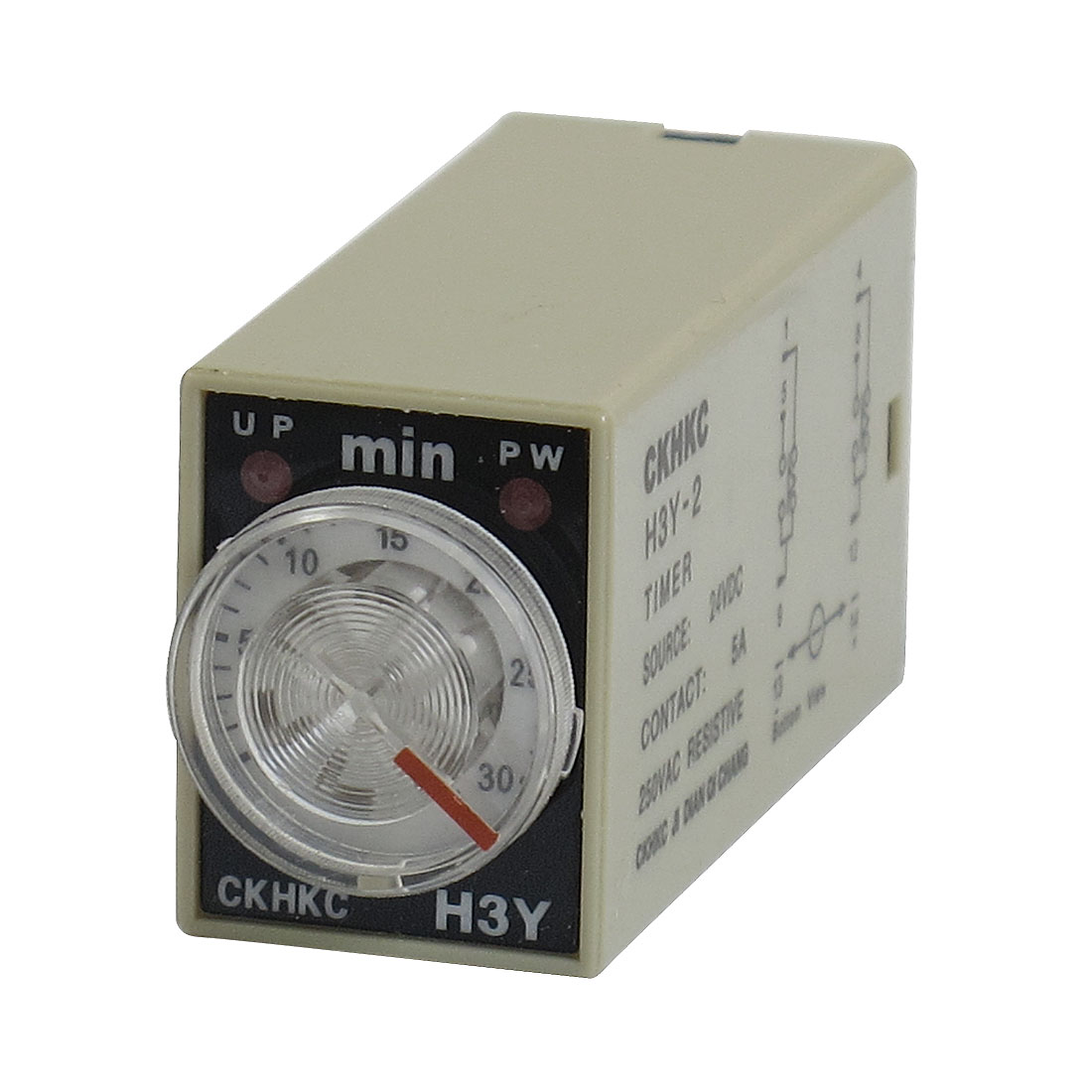 H3Y-2 DC 24V DPDT 0-30 Minutes 30M 8 Pins Power on Time Delay Relay