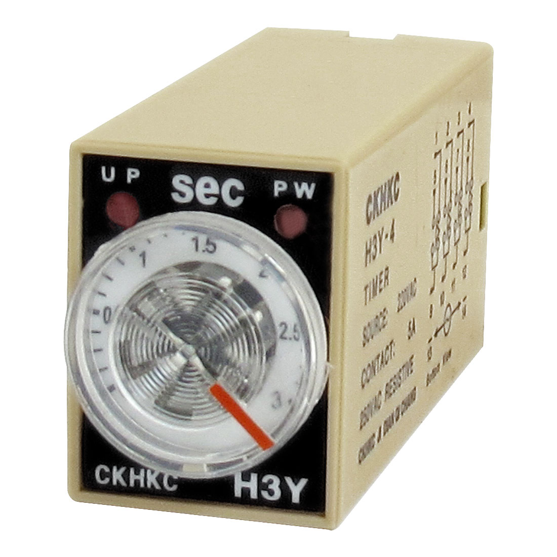 H3Y-4 AC 220V 4PDT 0-3 Seconds 3S 14 Pins Power on Time Delay Relay