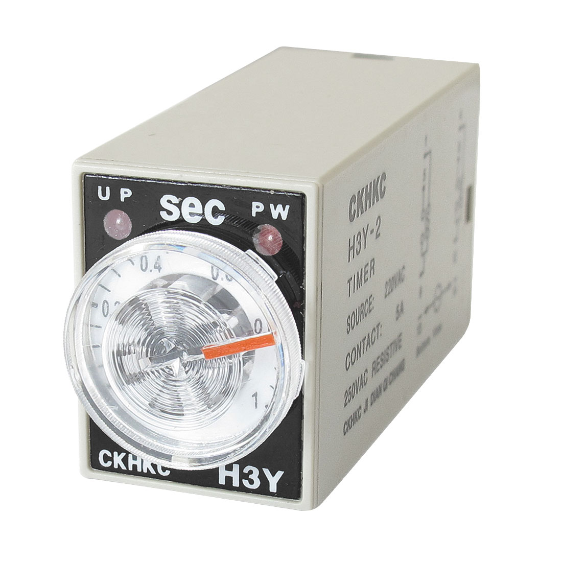 AC 220V 8P Terminals DPDT 1 Seconds 1S Delay Timing Time Relay H3Y-2