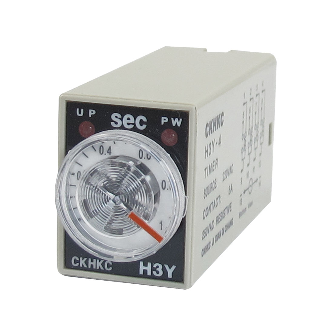 H3Y-4 AC 220V 4PDT 0-1 Seconds 1S 14 Pins Power on Time Delay Relay