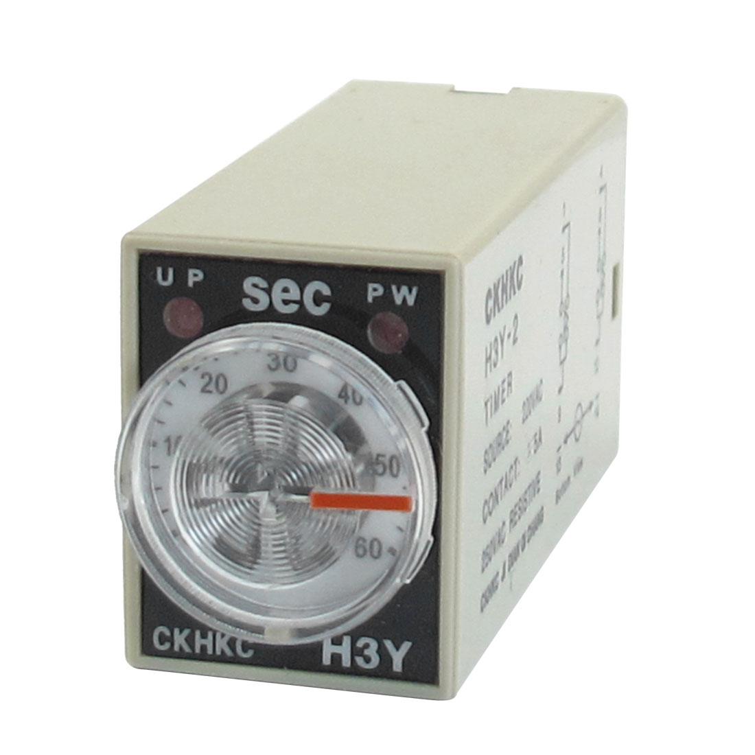 H3Y-2 AC 220V DPDT 0-60 Seconds 60S 8 Pins Power on Time Delay Relay