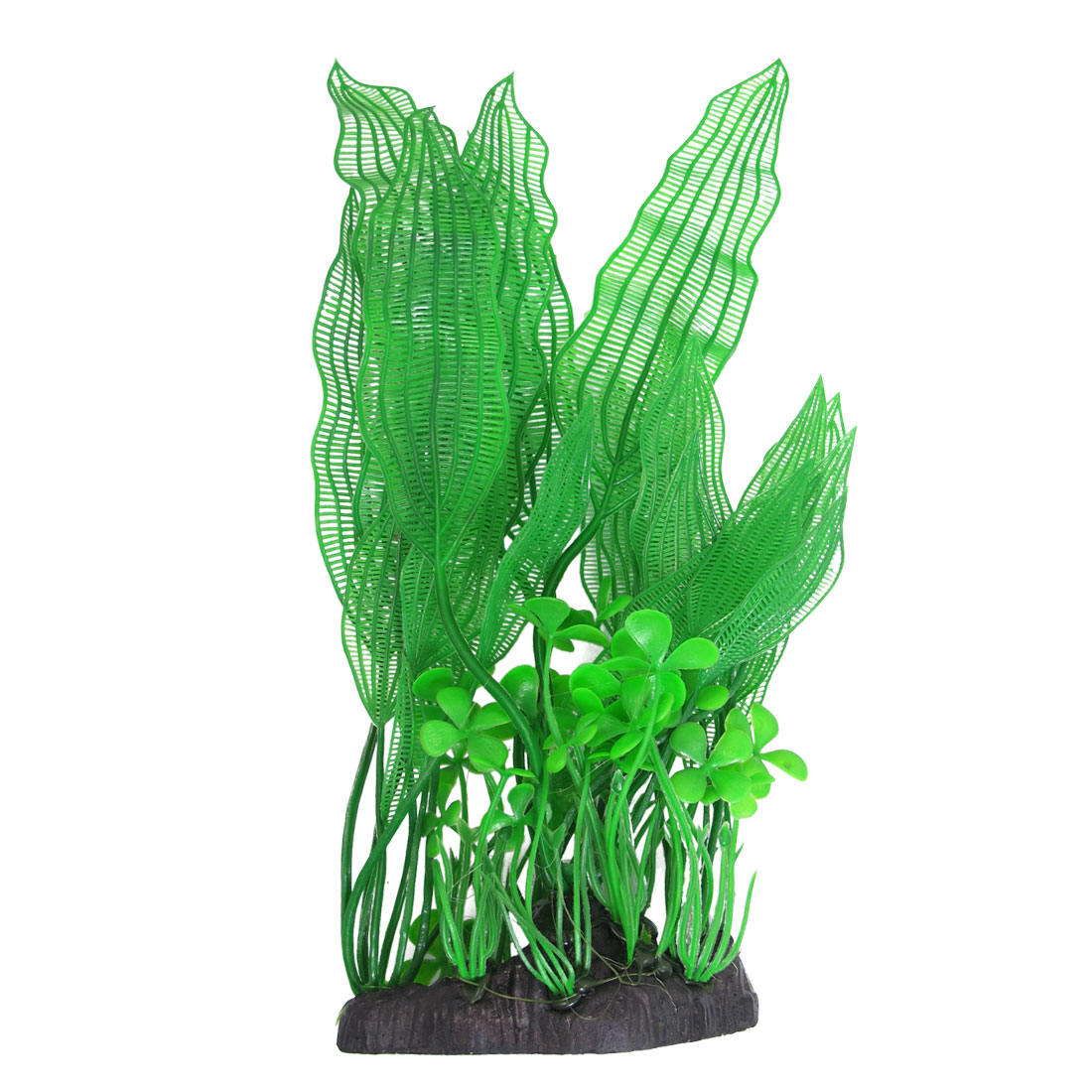 "Fish Tank Landscape Green Plastic Aquatic Grass Plant 12.2"" Height"