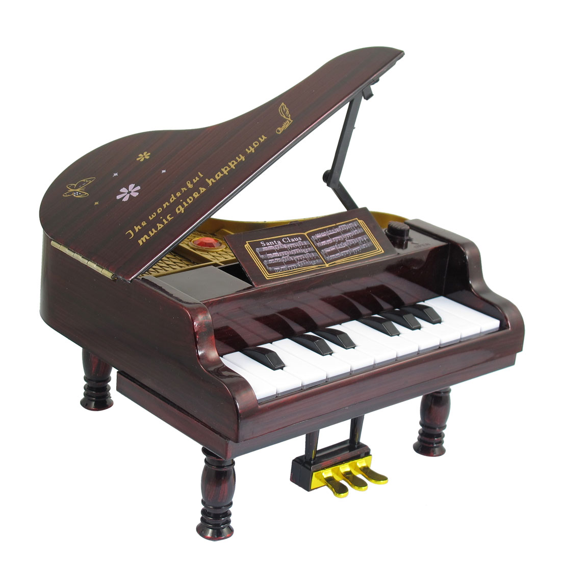 Redwood Plastic Simulation Charming Style Piano Music Maker Box Toy for Child