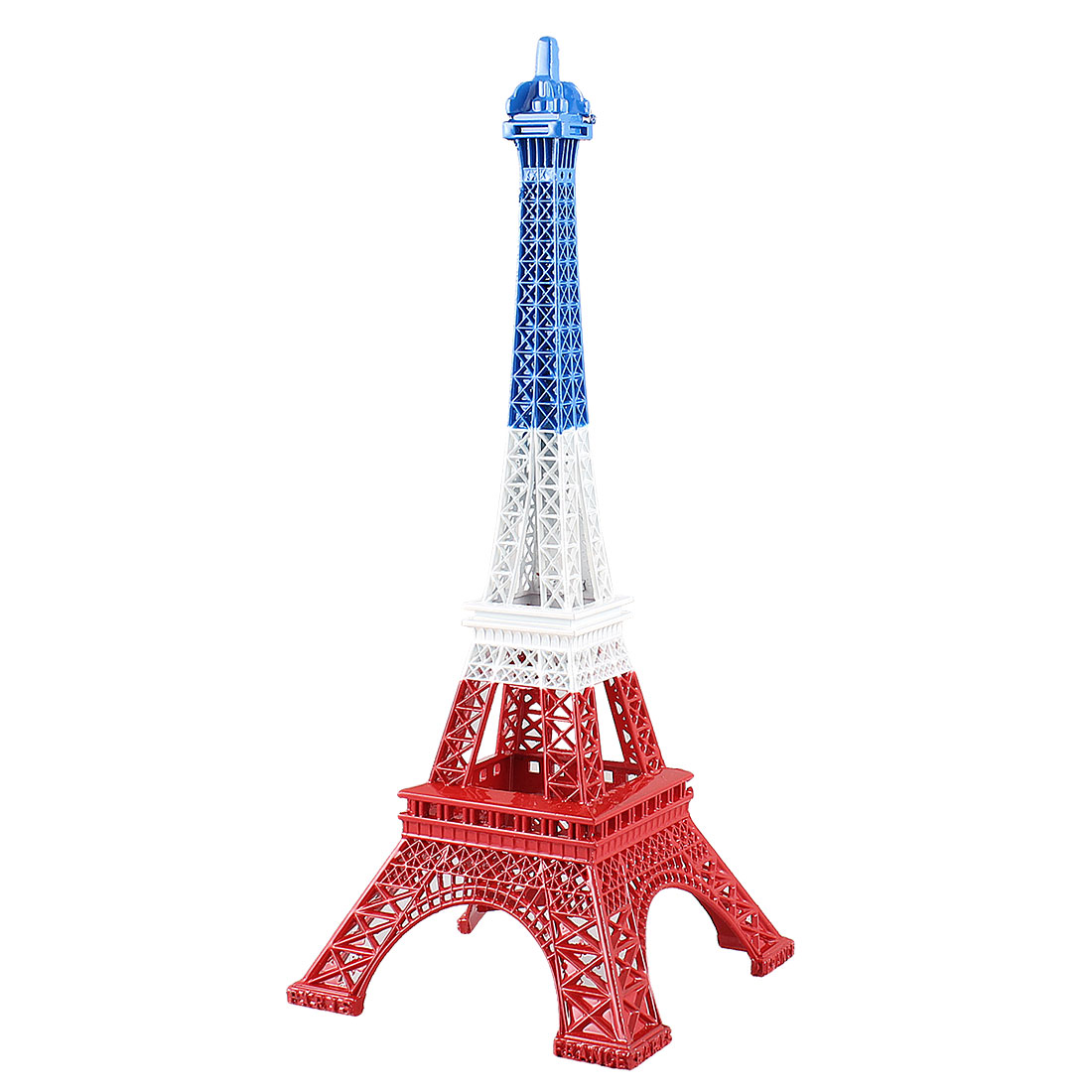 Tri Color Metal Paris Miniature Eiffel Tower Model Souvenir Decoration 10""