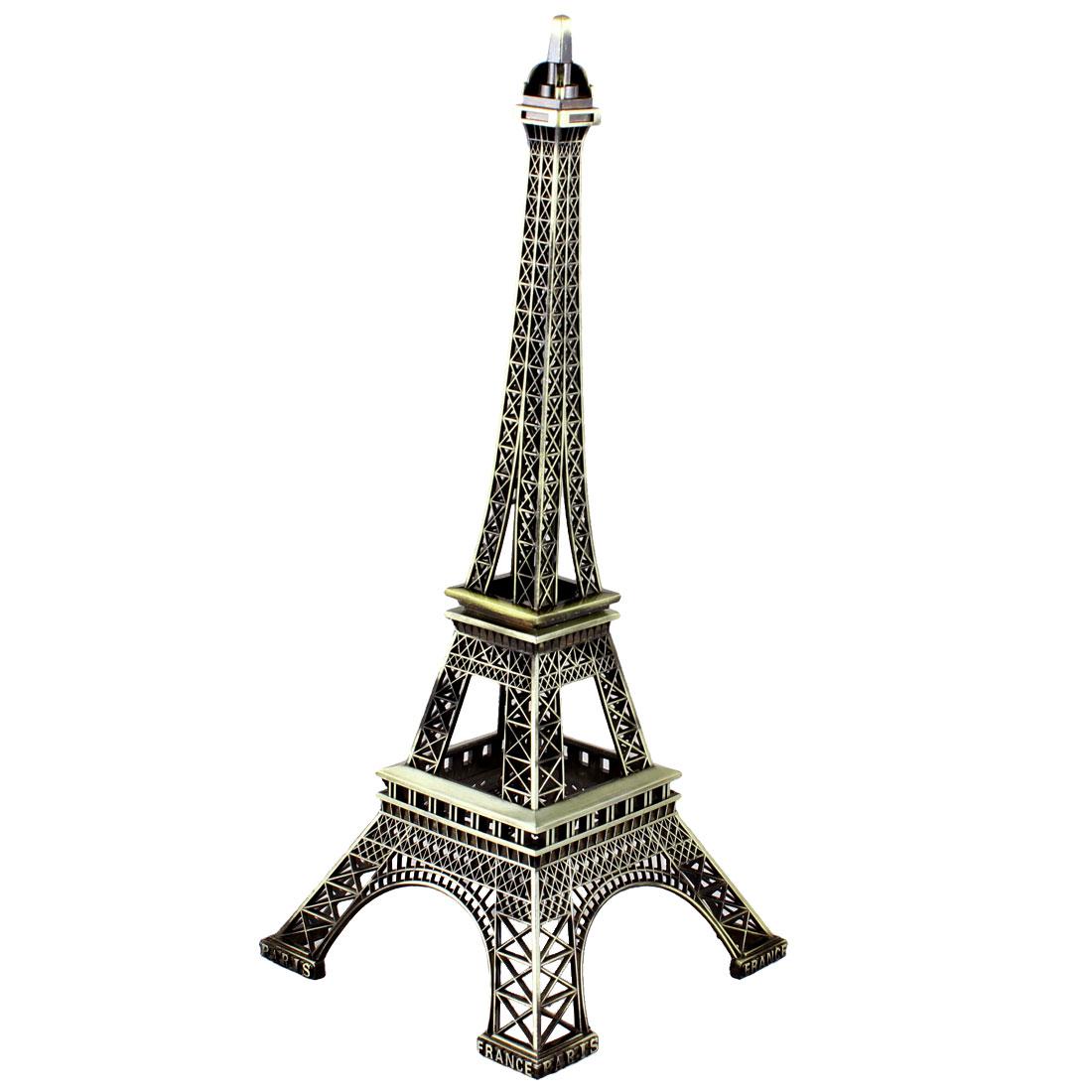 """Bronze Tone Metal Paris Miniature Eiffel Tower Model Souvenir Decoration 13"""""""