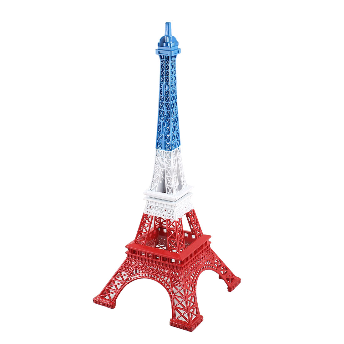 Red White Blue Metal Paris Miniature Eiffel Tower Model Souvenir Decoration 13""