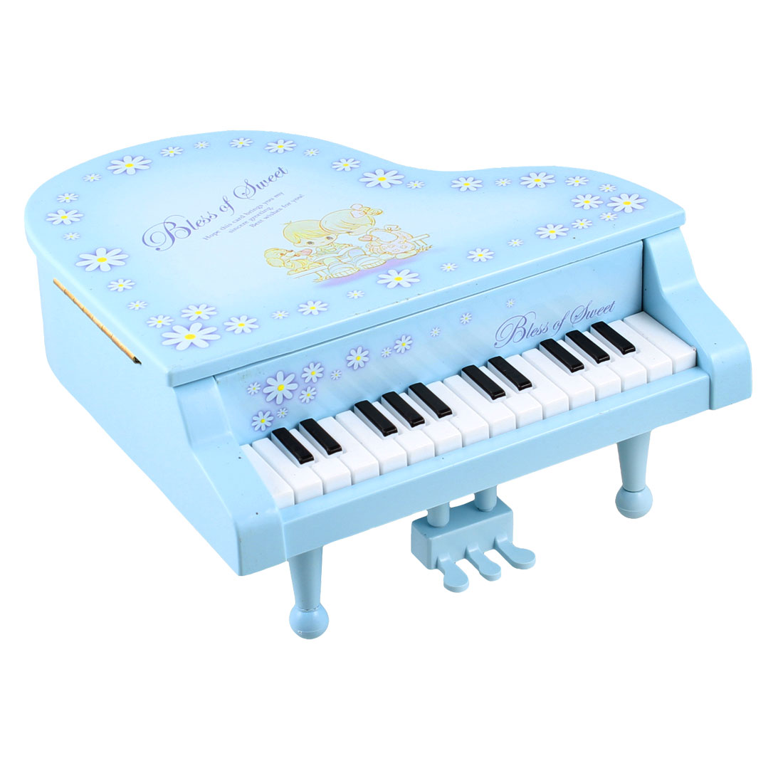 Plastic Interest Developing Piano Music Box Mini Model Gift Blue